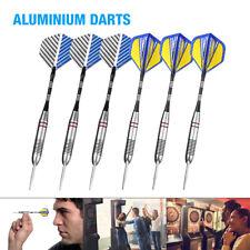 2 sets(6pcs) of Steel Tip Darts 23g Professional Dart Set Aluminium Dart Flights