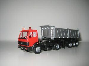 Herpa H0 140591 - Camión Mercedes Benz con remolque de carga