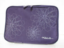 Golla Mobile Lifestyle Laptop Tablet Case Purple Floral Zip Cover with Handle