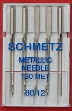 Schmetz Metallic sewing machine needles, 80/12  pkt of 5