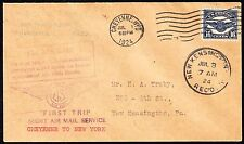 #C5 ON US GOVT FLT #167 1ST TRIP NIGHT AIRMAIL SERVICE CHEYENNE TO N.Y. BT6477