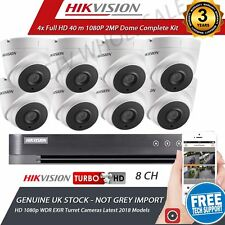 8x HD 1080P CCTV CAMERA SYSTEM OUTDOOR DVR HIKVISION 8CH P2P REMOTE VIEW FULL HD