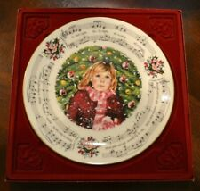 Royal Doulton Collectors Plate Silent Night 1983 Christmas Carols Original Box