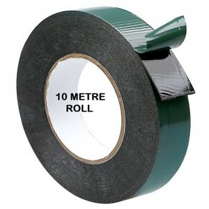 Double Sided Foam Tape 10M Black Durable Strong 6mm-50mm Permanent Self Adhesive