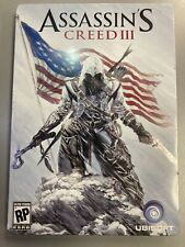 EMPTY STEELBOOK Assassin's Creed III (Ubisoft, 2012) Pre-Order Game Not Included