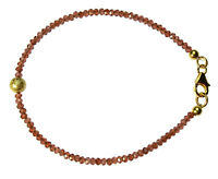 GRANAT Armband Silber vergoldet / GARNET Bracelet D878
