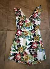 Zara White Floral Summer Playsuit Size 10