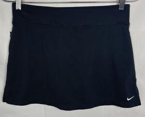 Nike Dri-fit Womens Skort Sz Medium Black Lined Tennis Skirt NWOT