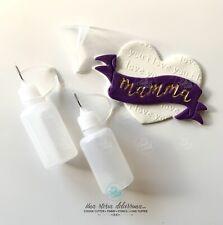 Dosatore Colorante Alimentare Set Due Bottiglie VUOTE + Imbuto My Sweet Cutter