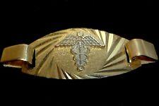 MEDIUM MEDIC REAL 10K GOLD BRACELET CENTERPIECE ONLY FREE ENGRAVING ALERT