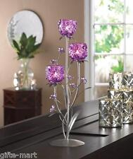 "large purple flower 18"" modern statue tea-light metal candelabra Candle Holder"
