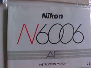 Nikon 6006 instructions manual
