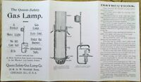 Queen Safety Gas Lamp Co. 1899 Advertising Brochure - Chicago, IL Illinois