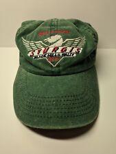 61st ANNUAL STURGIS BLACK HILLS RALLY 2001 HAT BLUE-GREEN ADJUSTABLE