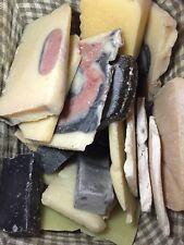 2.5 lb (40 oz)  Bag Handmade Shea and Cocoa Butter Pieces  Bulk Soap Guest Soap