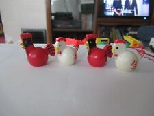 Fisher Price Little People set of 4 chickens/roosters