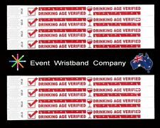 100 x Age Verified, Tyvek, party, security, wristbands
