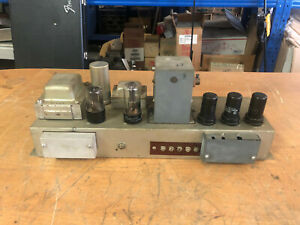 Working 1950s Hammond C2 B2 AO-10C tube preamp preamplifier