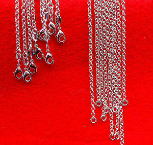 """10PC 30"""" Wholesale Fashion Jewelry 925 Silver Plated Pearl Cross Chains Necklace"""