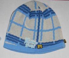 Men Women Blue Body Gloves Skull Beanie Winter Cap Ski Hat Sz OS