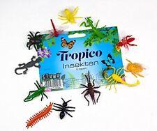 12x Plastik Insekten Figuren Aufstellfiguren Tierfiguren Gummitiere Tier