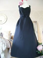 Monsoon size 18 New tags Black Fae dress evening 50's inspired races cruise