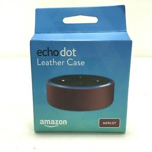 Amazon Echo Dot Leather Case, Compatible with 2nd Generation Only, Merlot
