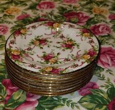 royal albert old country roses salad   RUBY CELEBRATION NWT  eight