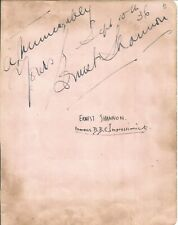 Ernest Shannon signed album page,  impressionist   E1107
