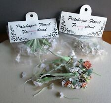 LOT OF 2+ PATCHOGUE FLORAL FANTASYLAND SMALL CRAFTING FLOWERS, NEW & USED (4696)
