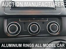 VW T5 Caravelle 2010-2015 Polished aluminium Chrome heater surrounds rings 3 pcs