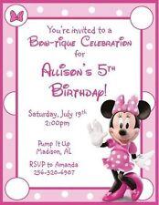 Minnie Mouse Invitations Ebay