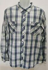 Skully Brand Men's Size XXL Button Up Long Sleeve Plaid Shirt