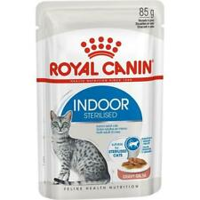 Royal Canin Indoor Sterilised In Gravy Wet Cat Food Tasty, Soft & Juicy 12 Pack