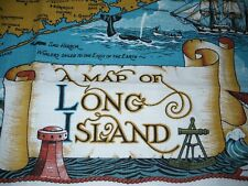Map of Long Island New York Linen Tea Towel Kay Dee Designs, NEW with tags!!