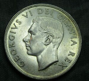 1952 Silver Dollar Canada Very High Grade.KM#46