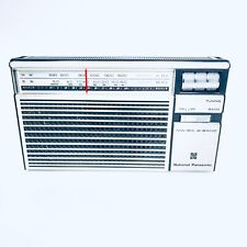 More details for national panasonic r-218r portable radio vintage retro transistor radio mw sw