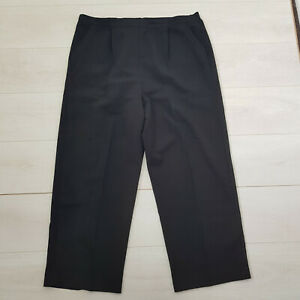 BONMARCHE Workwear Trousers Size 22 W38 L26 Black Pockets Elastic Waist