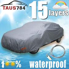 New Full Car Cover Waterproof Outdoor Sun UV Dust Snow Rain Wind Resistant
