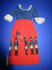 81) antiguo originales barbie Best Buy vestido red White Blue Dress #9158 mattel 1976