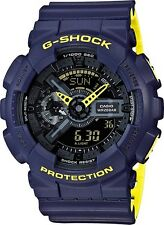 BRAND NEW CASIO G-SHOCK GA110LN-2A BLUE/YELLOW TWO TONE LAYERED ANA-DIGI WATCH