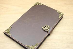 Celtic Magnetic Smart Cover Card Holder Handmade Stand Flip Case For Apple iPad