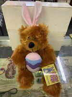 Good Stuff Plush Teddy Bear Stuffed Animal NOS HAPPY EASTER BEAR