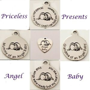 UNIQUE CHILD BABY INFANT LOSS BEREAVEMENT MISCARRIAGE COIN DISC NECKLACE (BOXED)