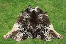 Small Cowhide Rug Tricolor Real Cow Hide Hair on Skin Print Area Rugs 5 x 4 ft