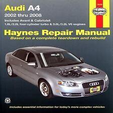 2002-2008 Haynes Audi A4, Avant & Cabriolet Repair Manual