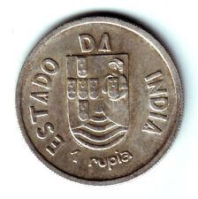 INDIA PORTUGUESA:  1 Rupia plata 1935 S/C Republica Portuguesa - Estado da India