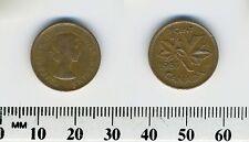 Canada 1957 - 1 Cent Bronze Coin - Queen Elizabeth II