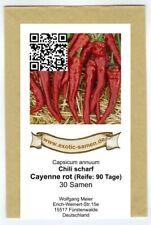 Cayenne Chili - das wohl bekannteste - 30 Samen