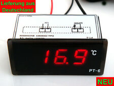 Digital LED Thermometer 12V Sensor KFZ PKW Motorrad Digitalthermometer rot NEU